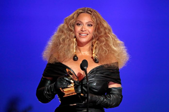 Beyonce wins her 28th Grammy award at the 63rd Grammy Awards ceremony.